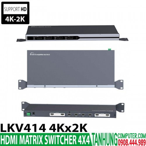 HDMI Matrix Switcher 4x4 LKV414 4K2...