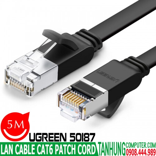 Dây Patch Cord Ugreen 50187 Cat6 5M...