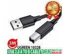 Cáp USB máy in Ugreen 10328 dài 3m USB 2.0 A Male to B Male cable