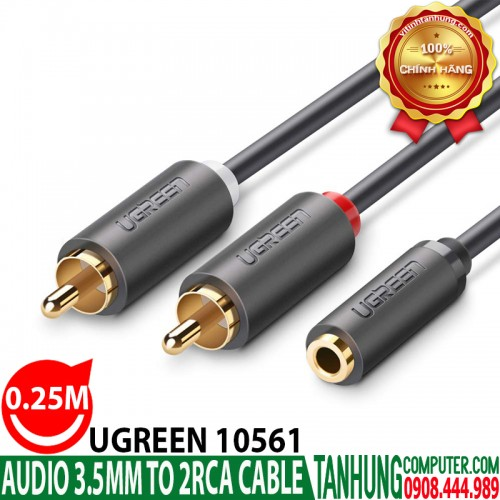 Cáp Audio 3.5mm (ÂM) to RCA 0.25M U...