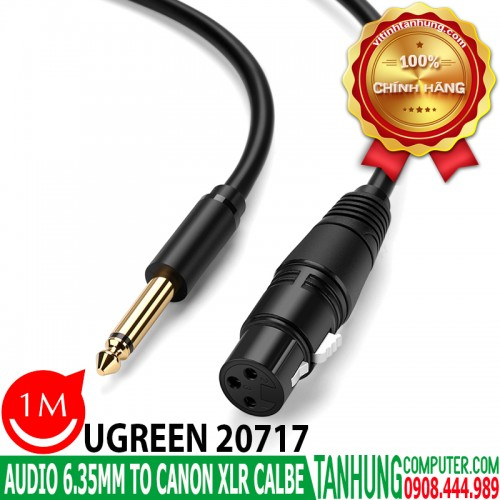 Cáp Audio 6.35mm sang Canon (XLR) C...
