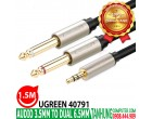 DÂY AUDIO 3.5MM TO 2 ĐẦU 6.5MM UGRE..