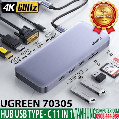HUB USB Type-C 11 in 1 Ugreen 70305...