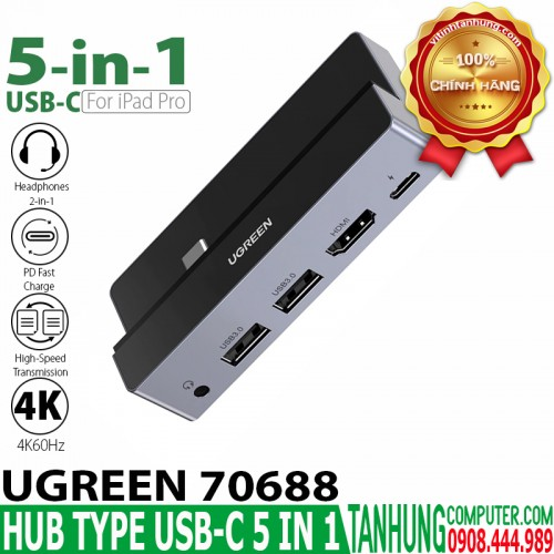 HUB USB-C 5 in 1 Ugreen 70688 USB C...
