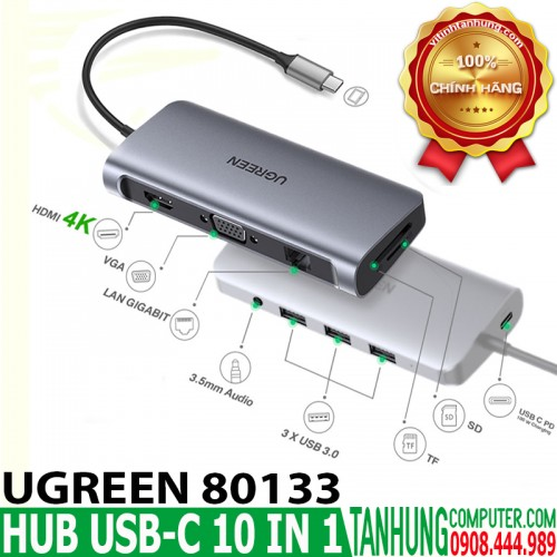 HUB USB C 10 in 1 UGREEN 80133 USB ...