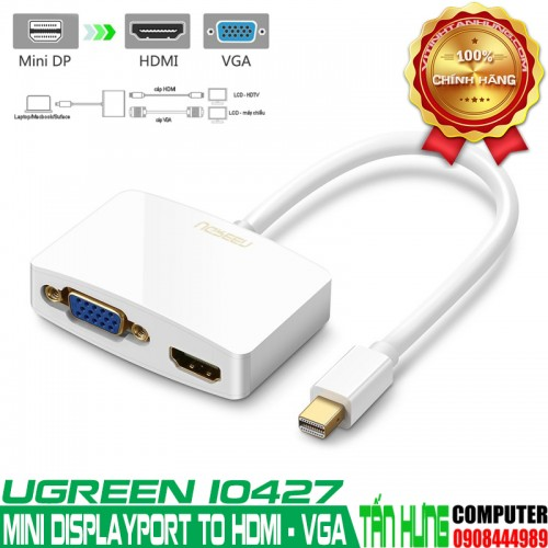 Cáp Mini Displayport to HDMI và VGA...