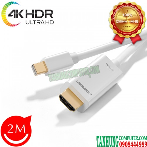 Cáp Mini DisplayPort to HDMI 2m Hỗ ...