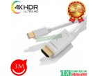 Cáp Mini DisplayPort to HDMI 3m Hỗ ...