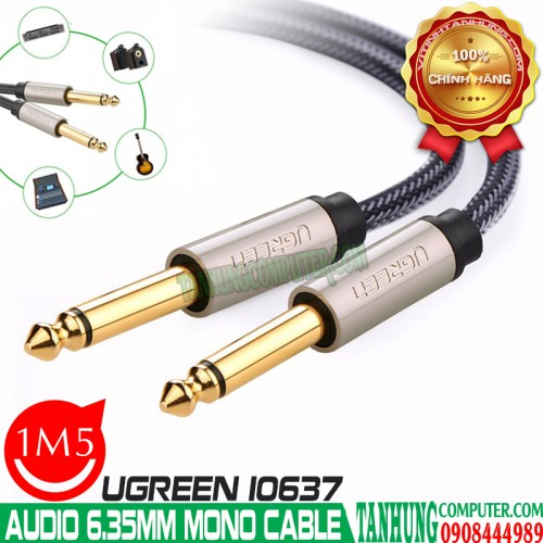 Cáp Audio 6,35mm Mono Jack 1/4 Mạ V...