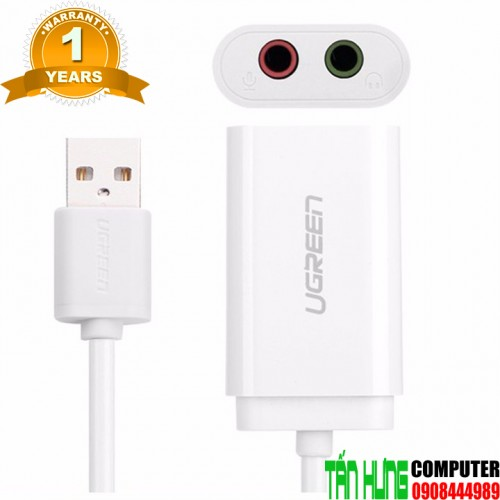 Cáp USB Sound UGREEN 30143 3.5mm He...