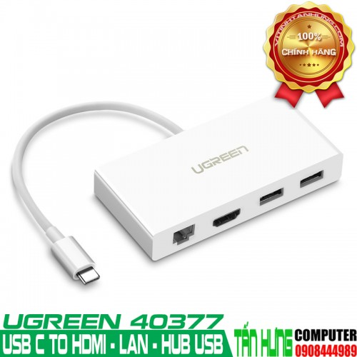 Cáp USB-C to HDMI, Lan 10/100Mbps, ...